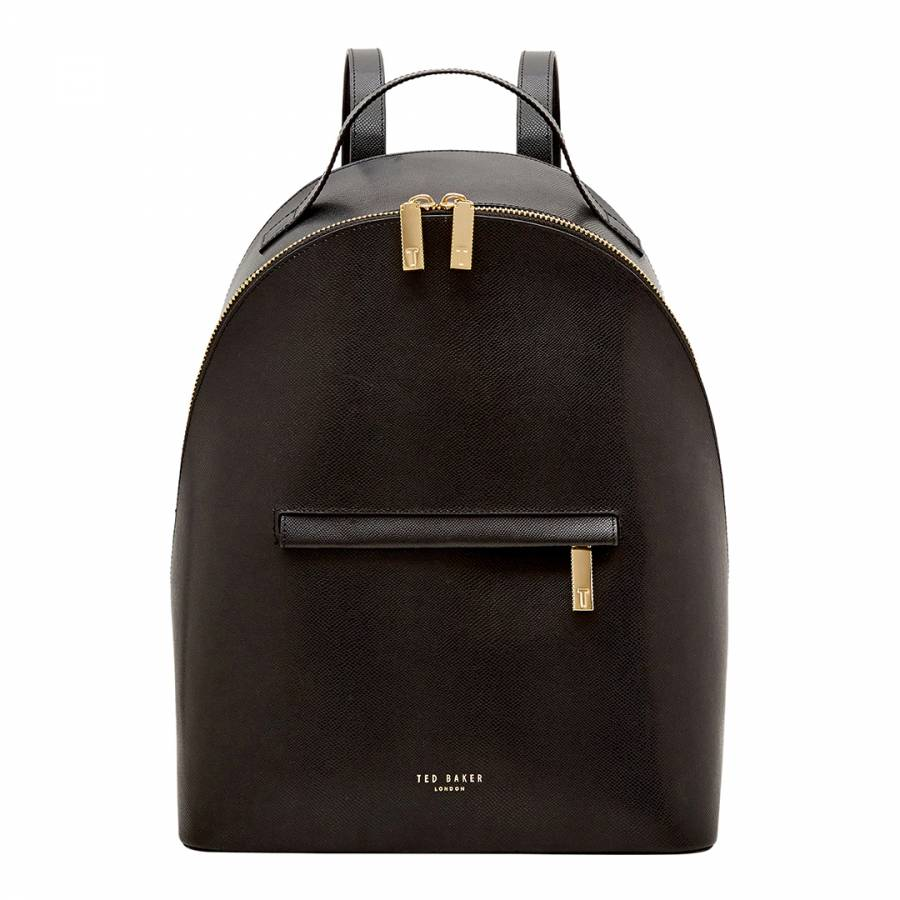 d6f35fa9c Ted Baker Womens Black Leather Jarvis Mini Grain Backpack. prev. next. Zoom