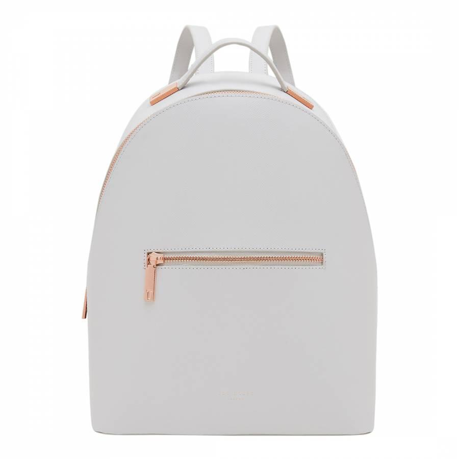 328f5f7017ea7 Womens Grey Leather Jarvis Mini Grain Backpack - BrandAlley