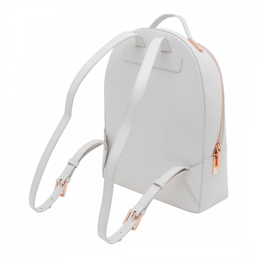 df460d098 Womens Grey Leather Jarvis Mini Grain Backpack - BrandAlley