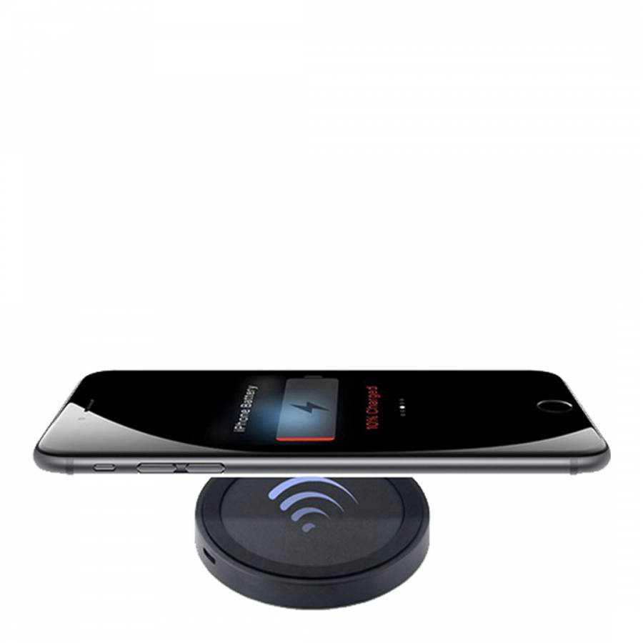 e0fea6b47f Wireless induction charging plate for iPhone 5/6 - Black - BrandAlley