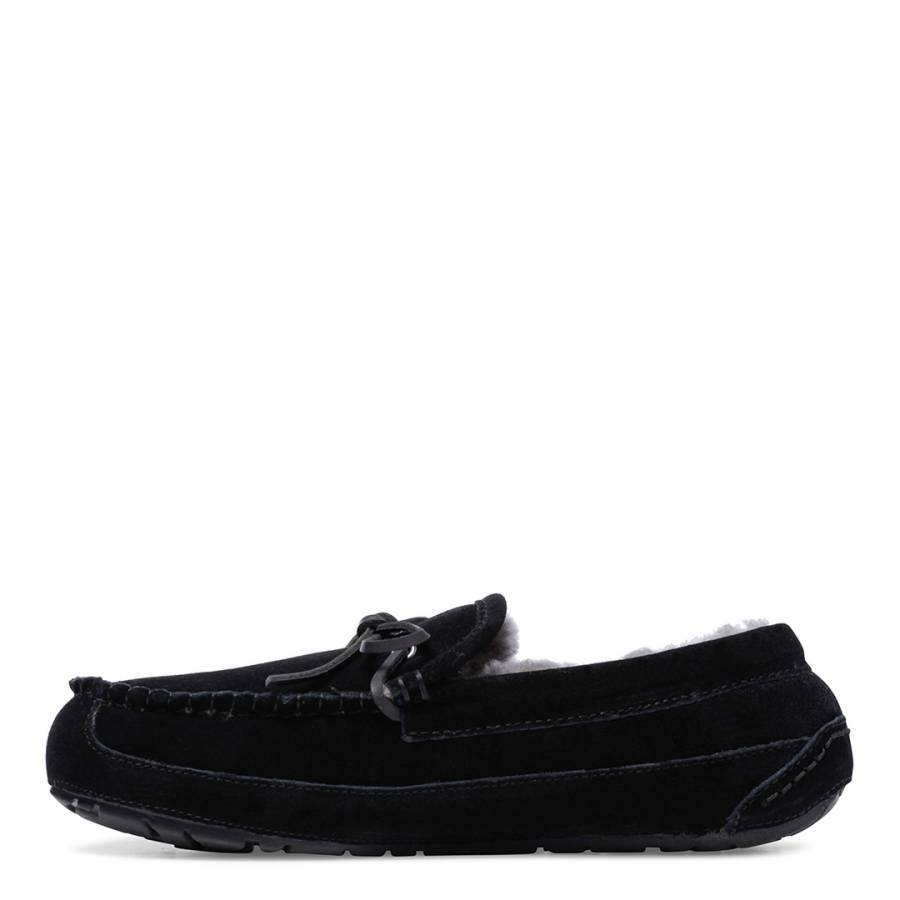 aefd6eb5aa53cf Mens Black Sheepskin Moccasin Classic Scuffs - Slippers - Shoes - Men -  BrandAlley