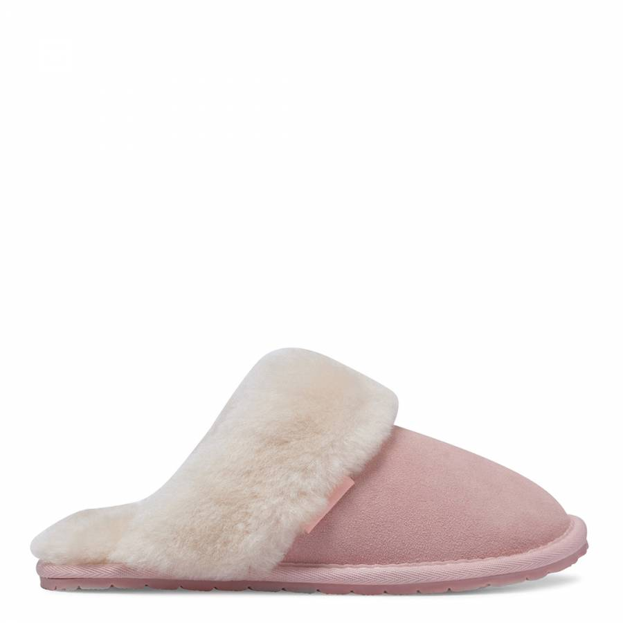 54fedcf8424d34 Women s Baby Pink Sheepskin Flip Flop Slipper - BrandAlley
