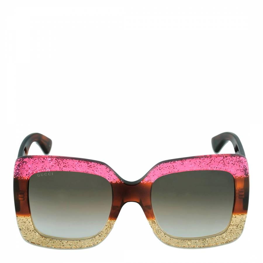 fccee0a9b7f Women s Brown Striped Fuchsia Yellow Sunglasses 55mm - BrandAlley