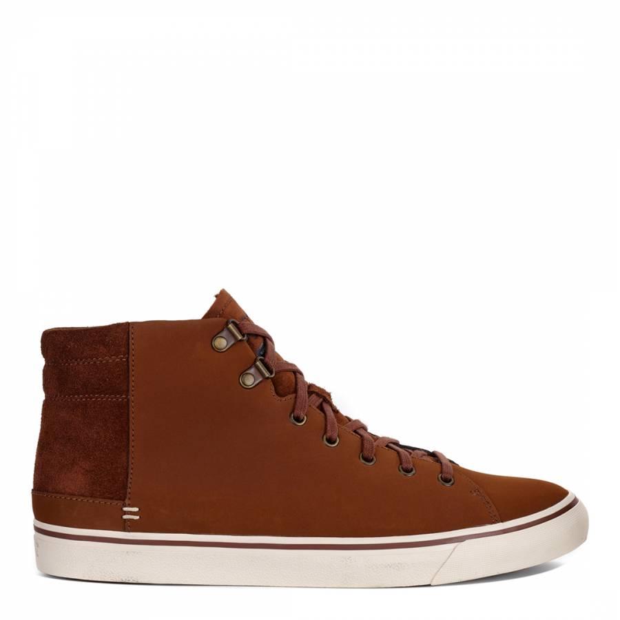 f6e47dd2ec6 UGG Men's Brown Leather Hoyt High Top Sneaker