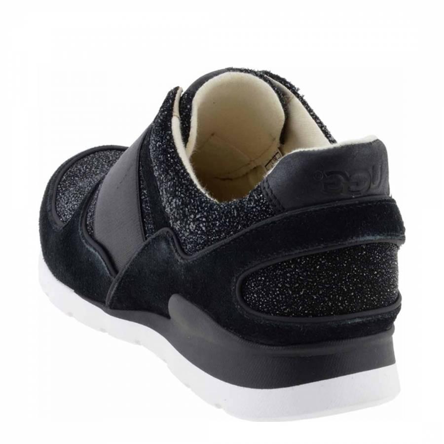 7cbbcfb9639 UGG Women's Black Suede & Textile Annetta Serein Sneaker