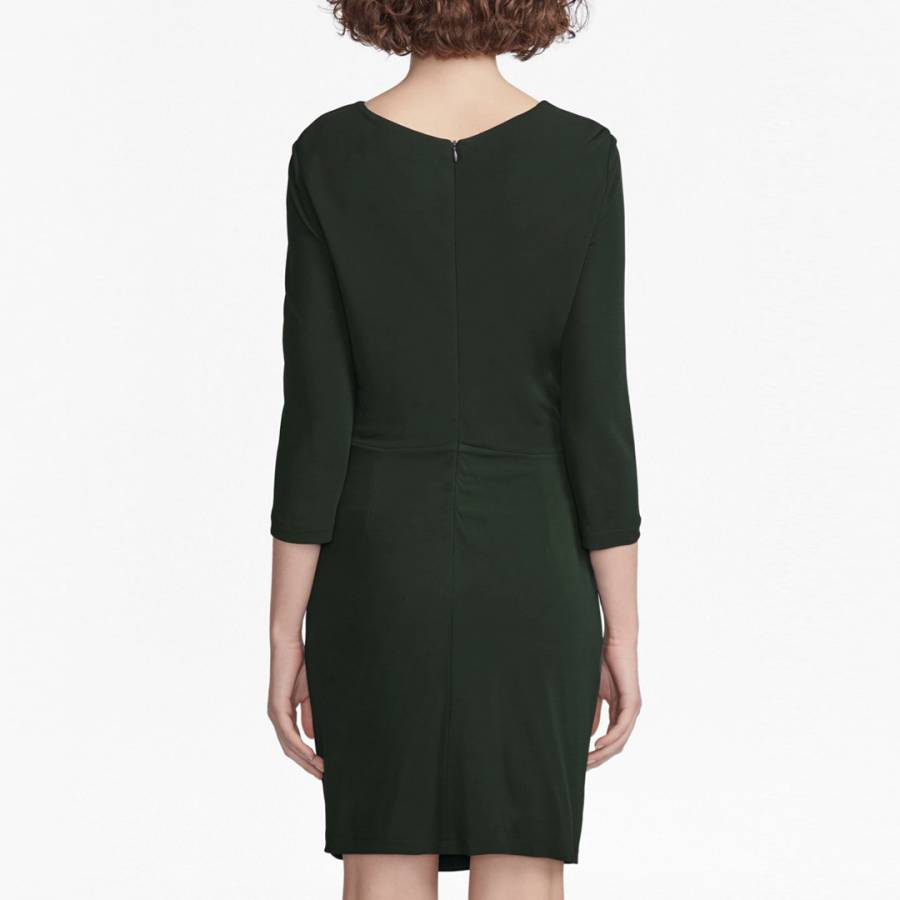 963136f0bcc296 Black Elsa Long Sleeved Draped Jersey Dress - BrandAlley
