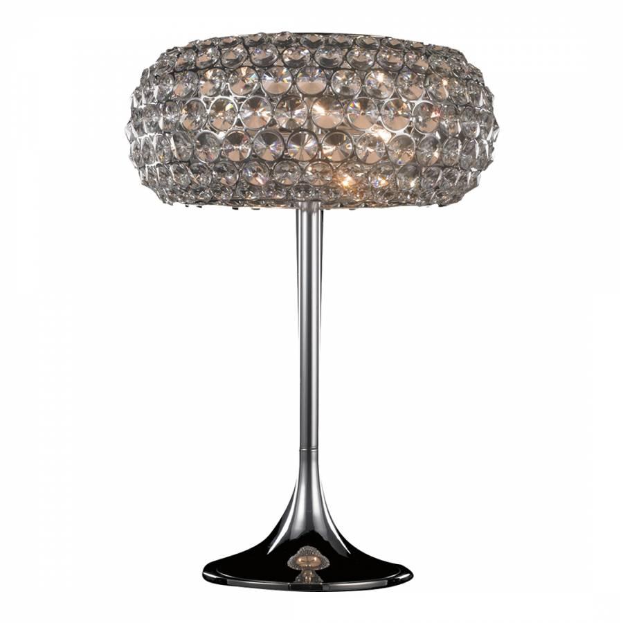 Star 3 Bulb Table Lamp, Crystal