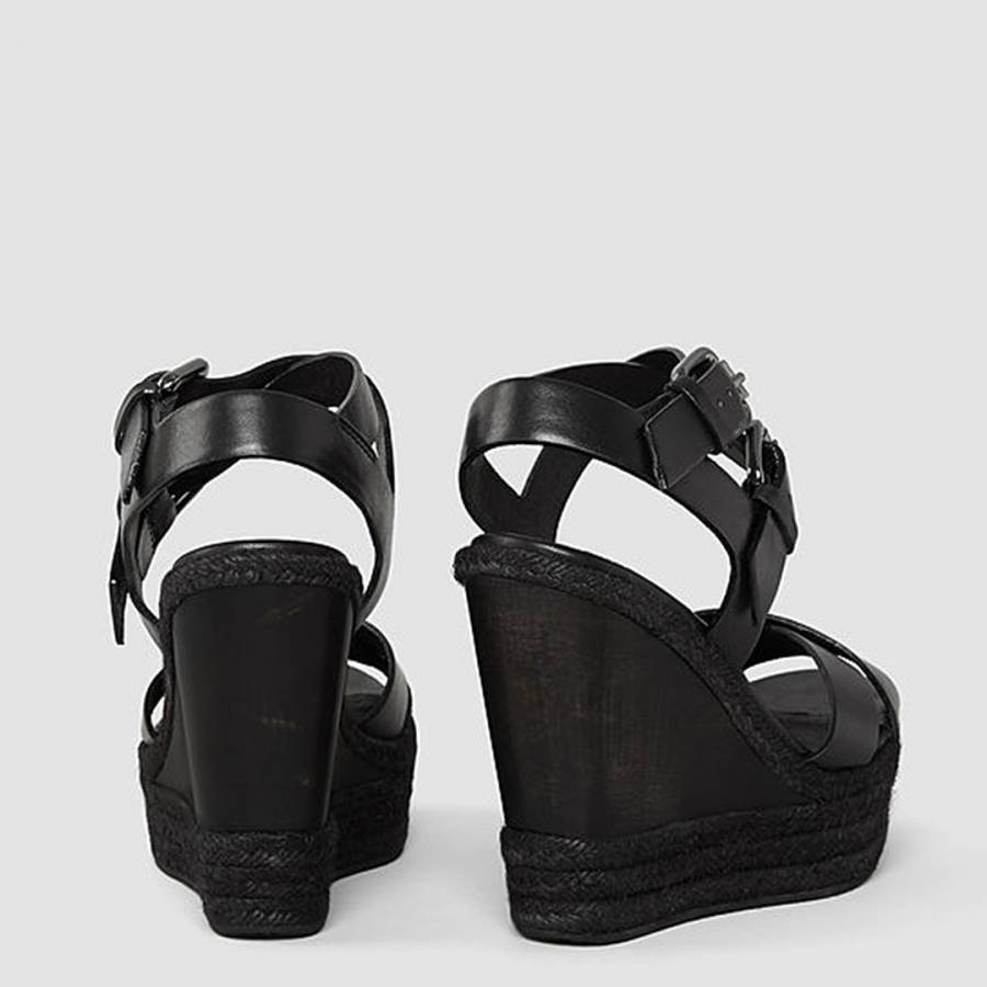 Sandals Perth Wedge Leather Black Brandalley CexodBrW