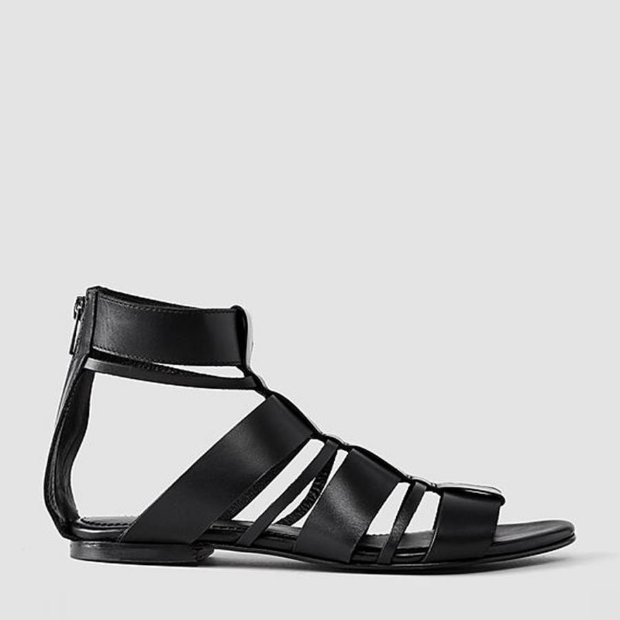 4f1c56f5bc900 Black Harlem Leather Espadrilles - BrandAlley