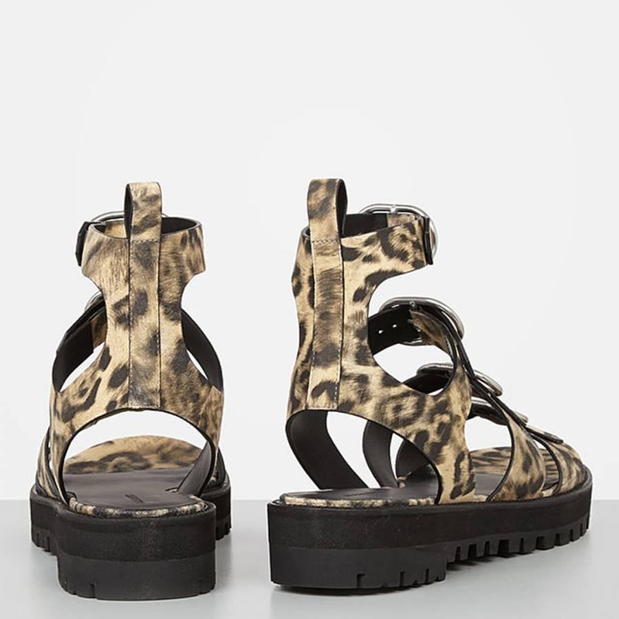 a341a0782cd AllSaints Leopard Leather Raquel Sandals. prev