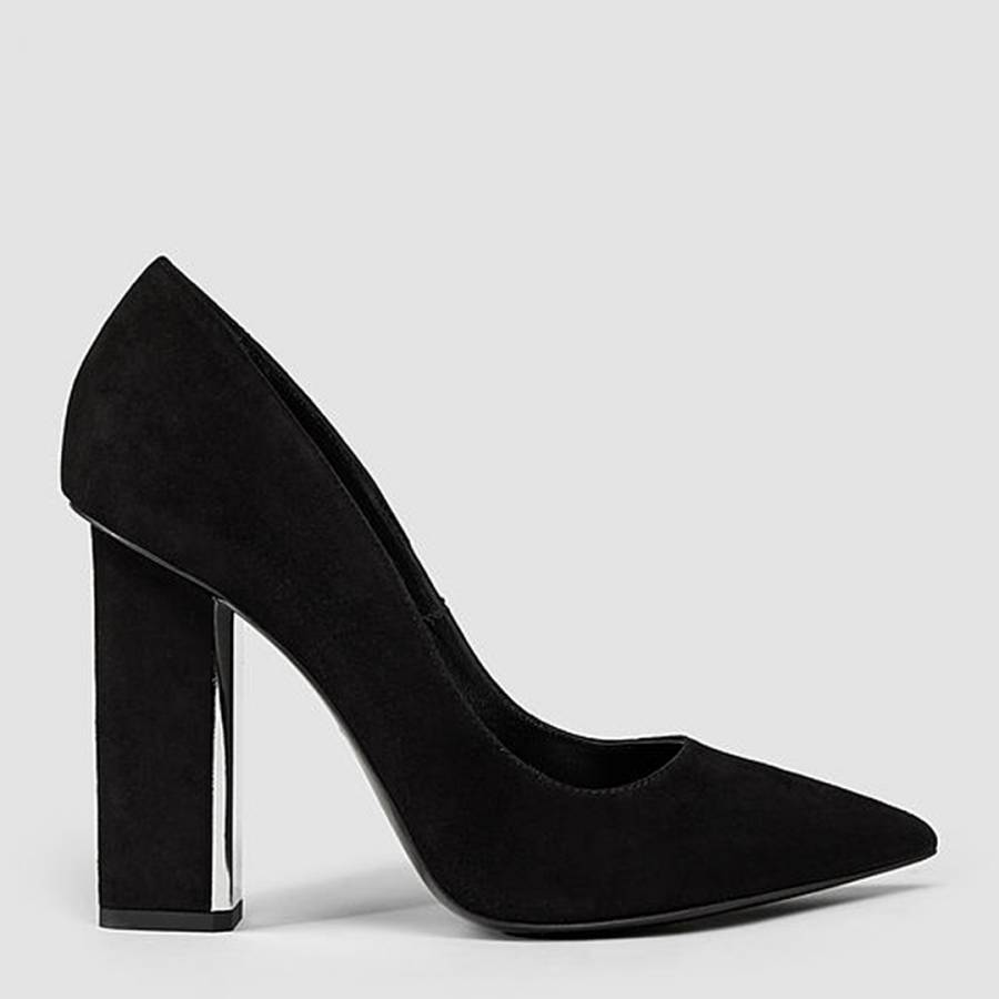 986d849cda8 Black Suede Cubista Pump Heels - BrandAlley