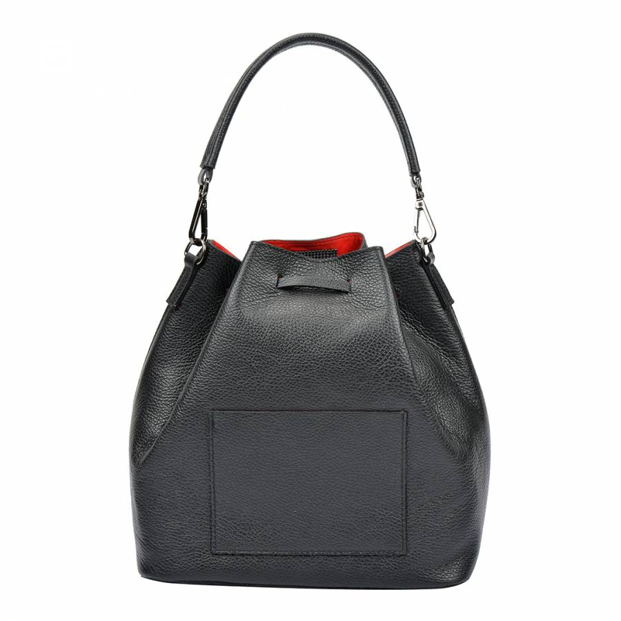 5ac373b8c31e Black Leather Tote Bag - BrandAlley