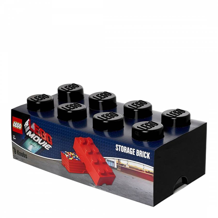 Lego Brick 8 Storage Box, Black