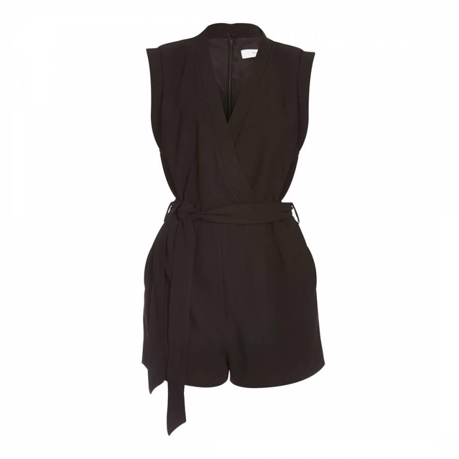 f1a94d7f24 Black Hamley Wrap Jumpsuit - BrandAlley