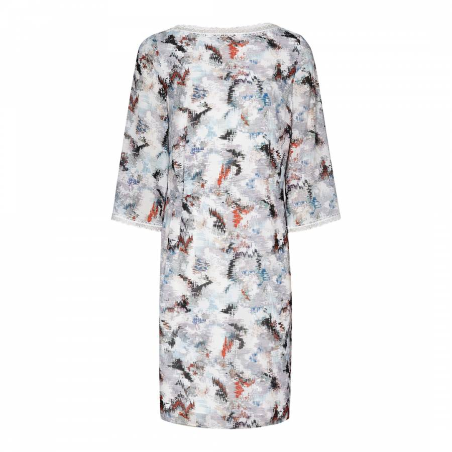4144e3f1317 Off White Multi Marrianna Printed Dress - BrandAlley