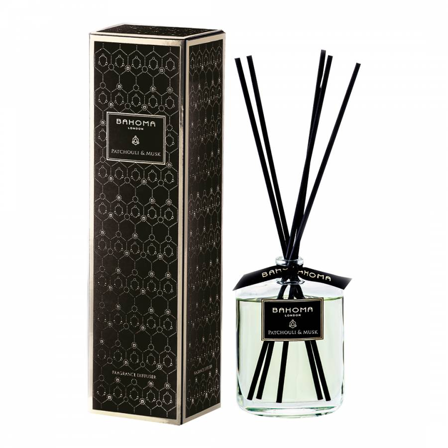 Obsidian Black Collection Patchouli & Musk Diffuser 100ml