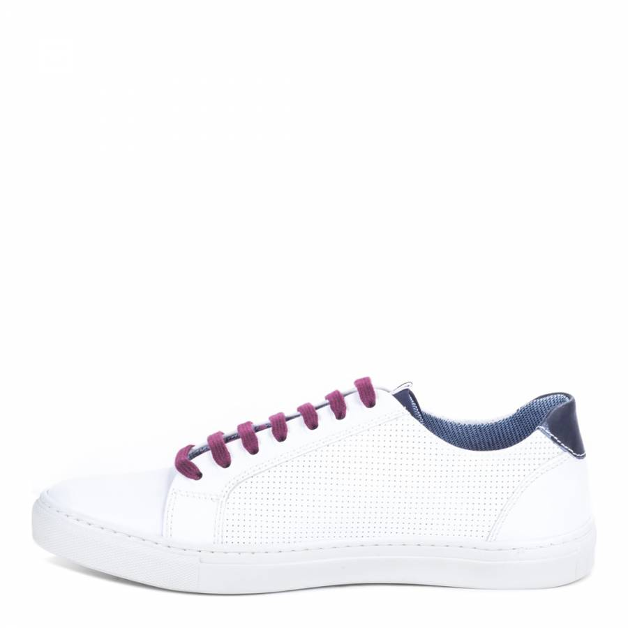 b15e0e58075 White/Red Leather Natrang Trainers - BrandAlley