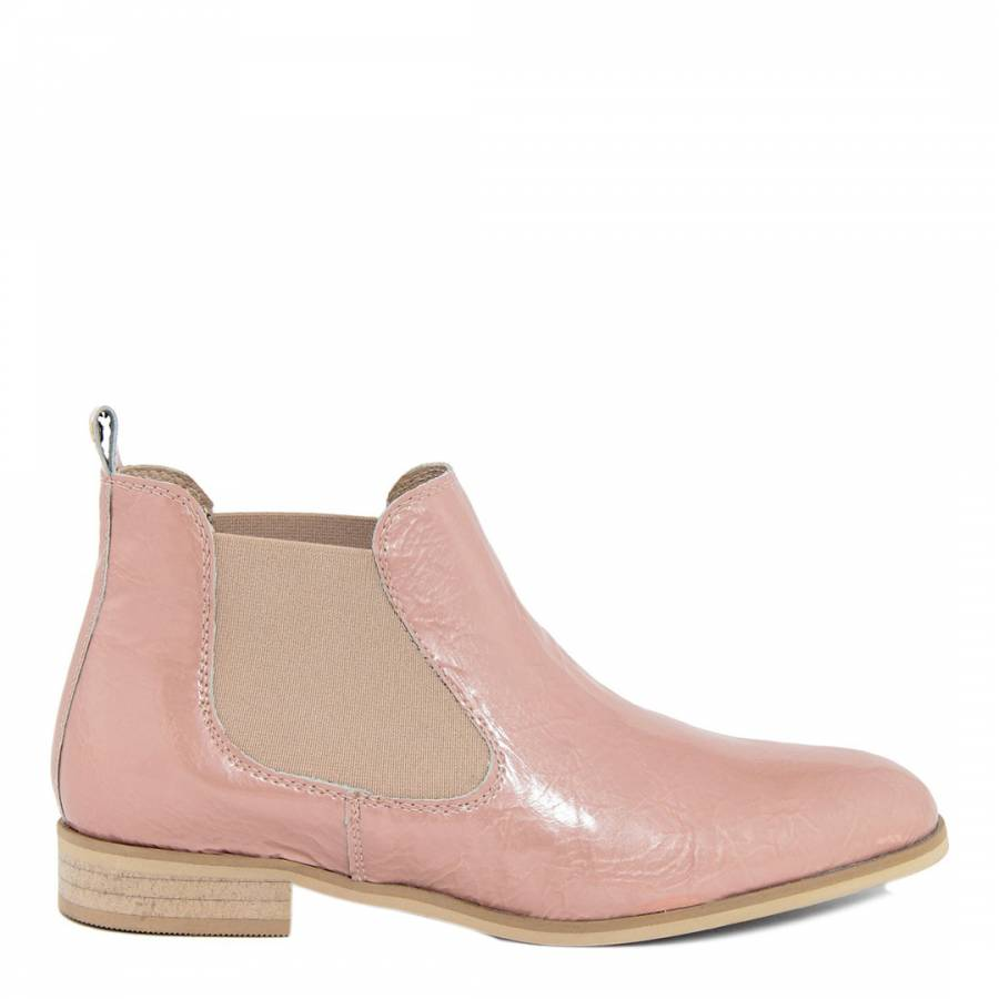 7240fe90c5f Pale Pink Pearl Distressed Effect Leather Chelsea Boot - BrandAlley