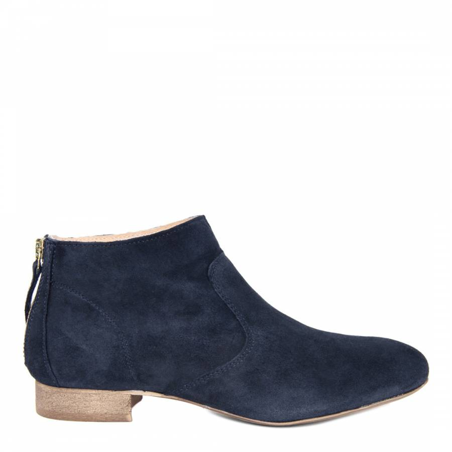 a5f2185f558c Navy Suede Ankle Boot - BrandAlley