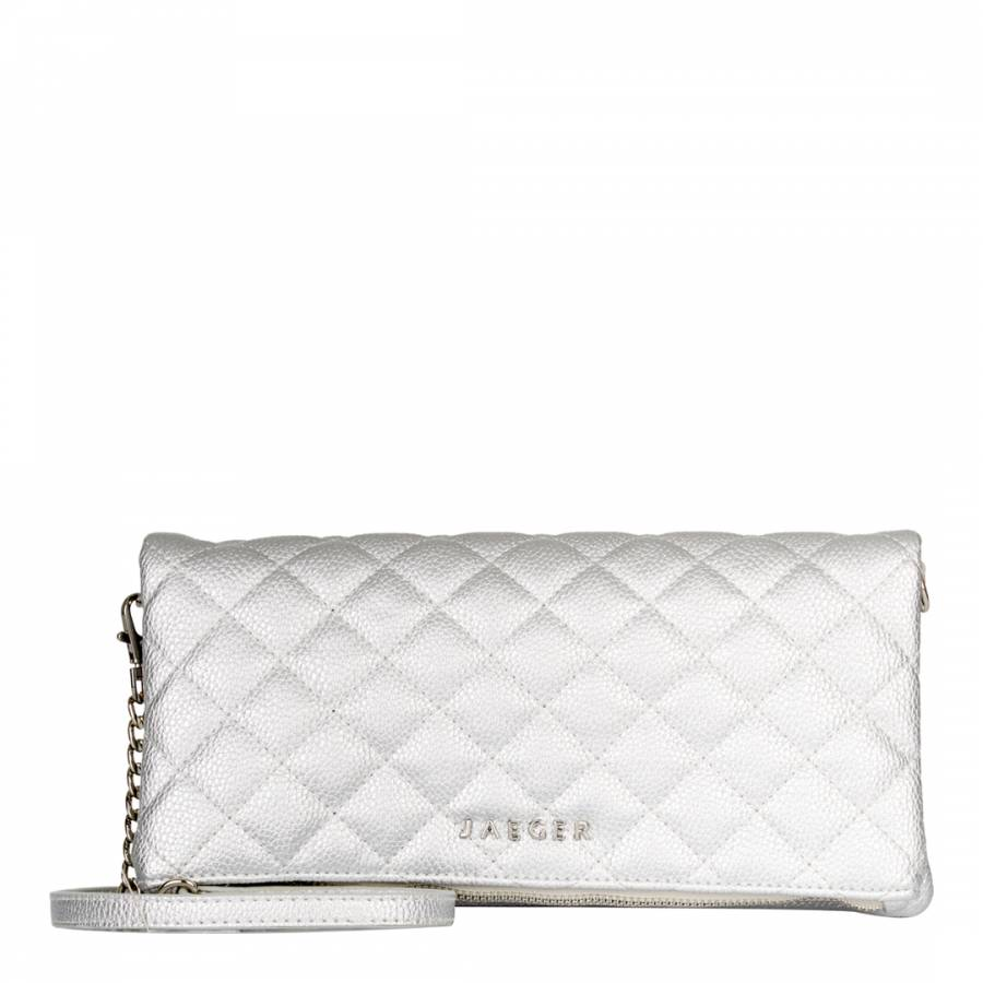 0d12de5ab28a Silver Quilted Harper Crossbody/Clutch Bag - BrandAlley