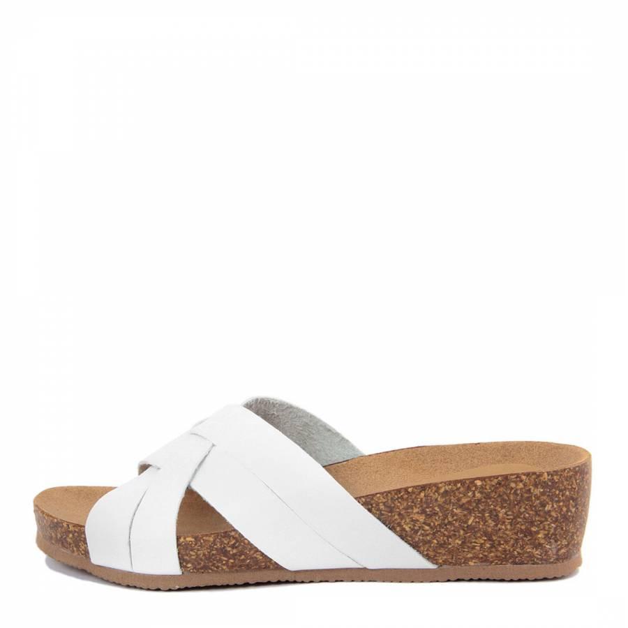 95fe396e104 White Multi Strap Wedge Footbed Sandal - BrandAlley