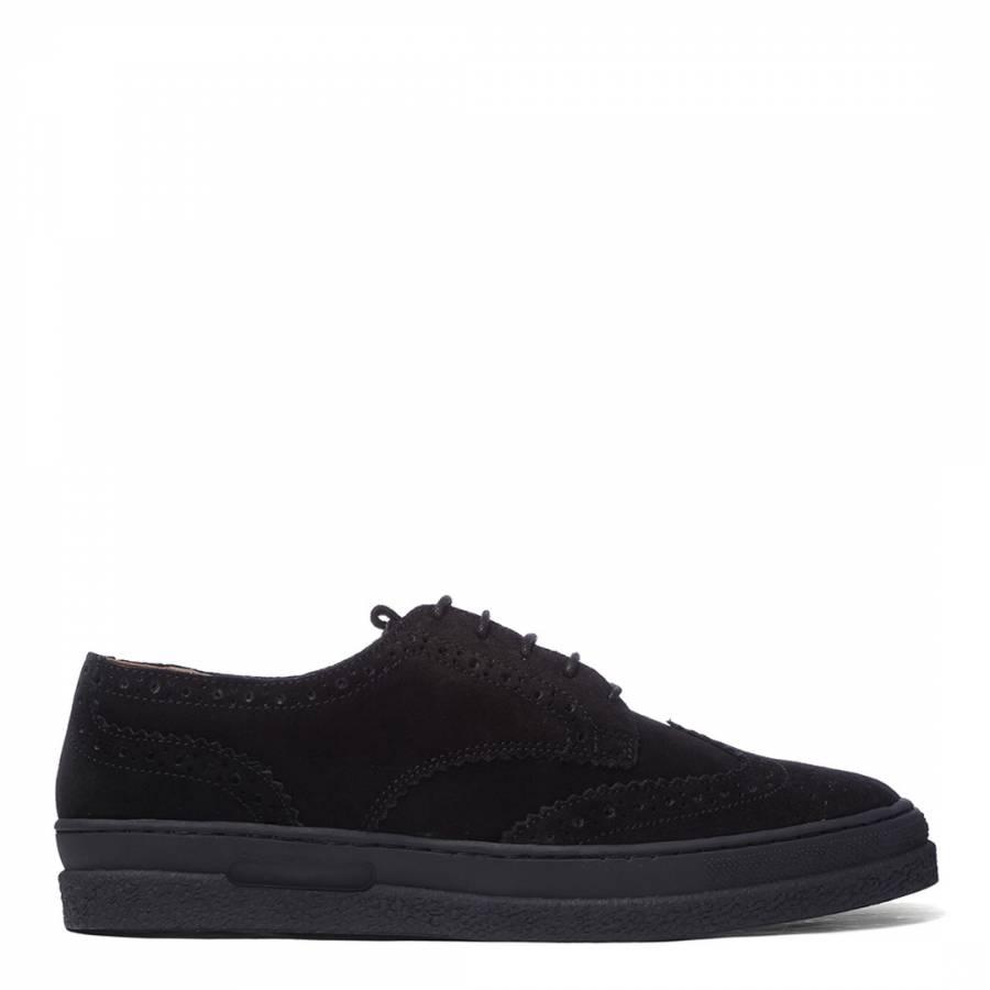 Black Suede Brogue Shoes