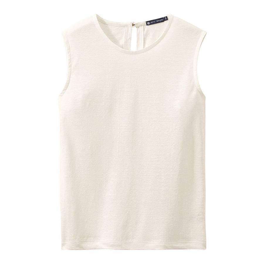 White Linen Sleeveless Top - BrandAlley ed0a2b6ab09