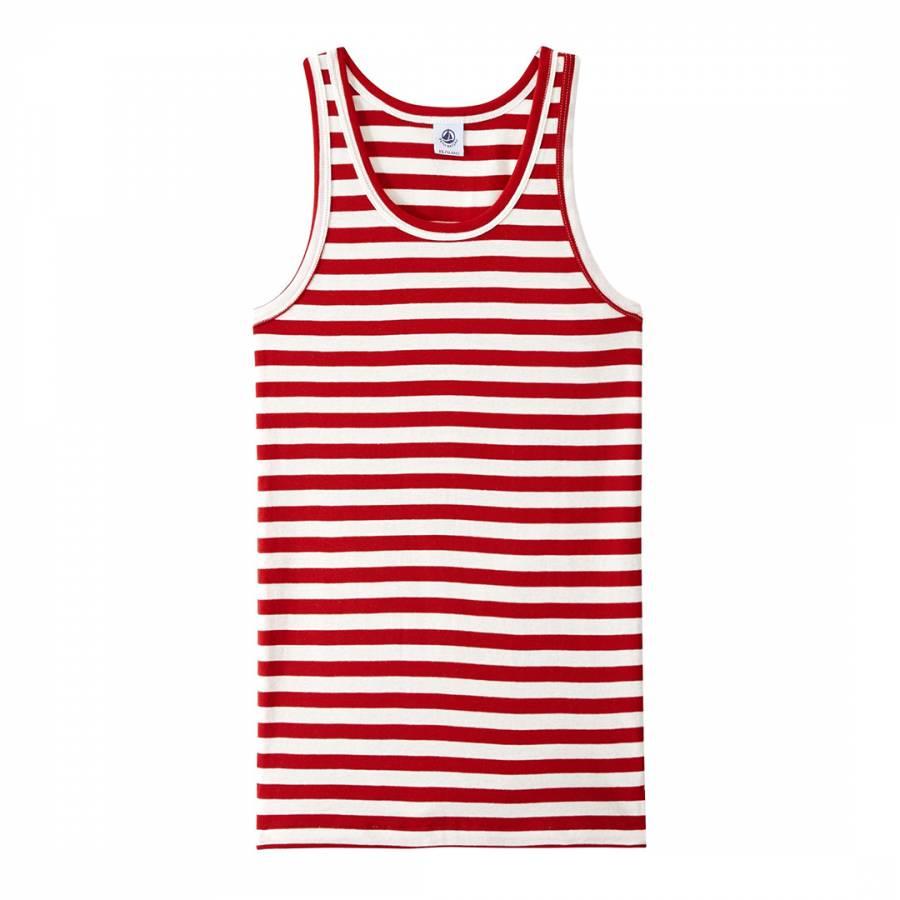 5bbdab692fecd4 Red White Heritage Striped Rib Vest Top - BrandAlley