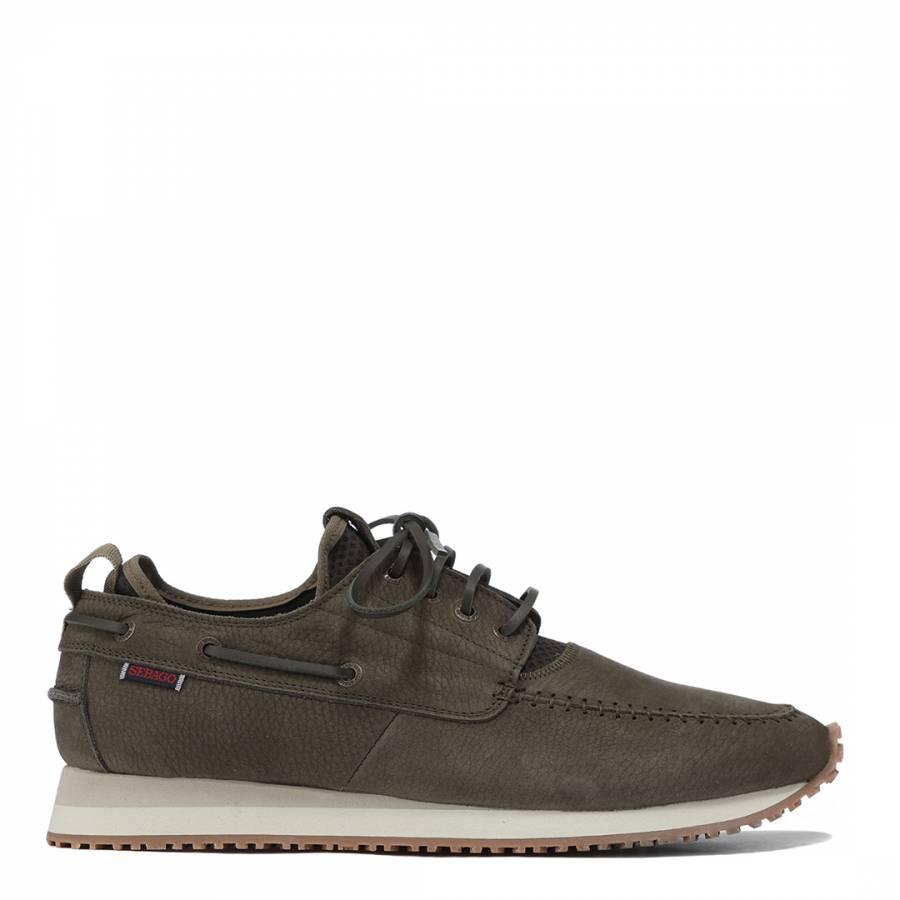 Men s Brown Olive Suede Jude Four Eye Boat Sneakers - BrandAlley 499bf4b63