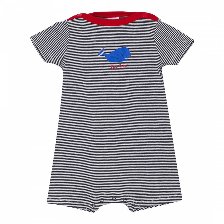 156bb13af Baby Boy s Midnight Striped Romper - BrandAlley