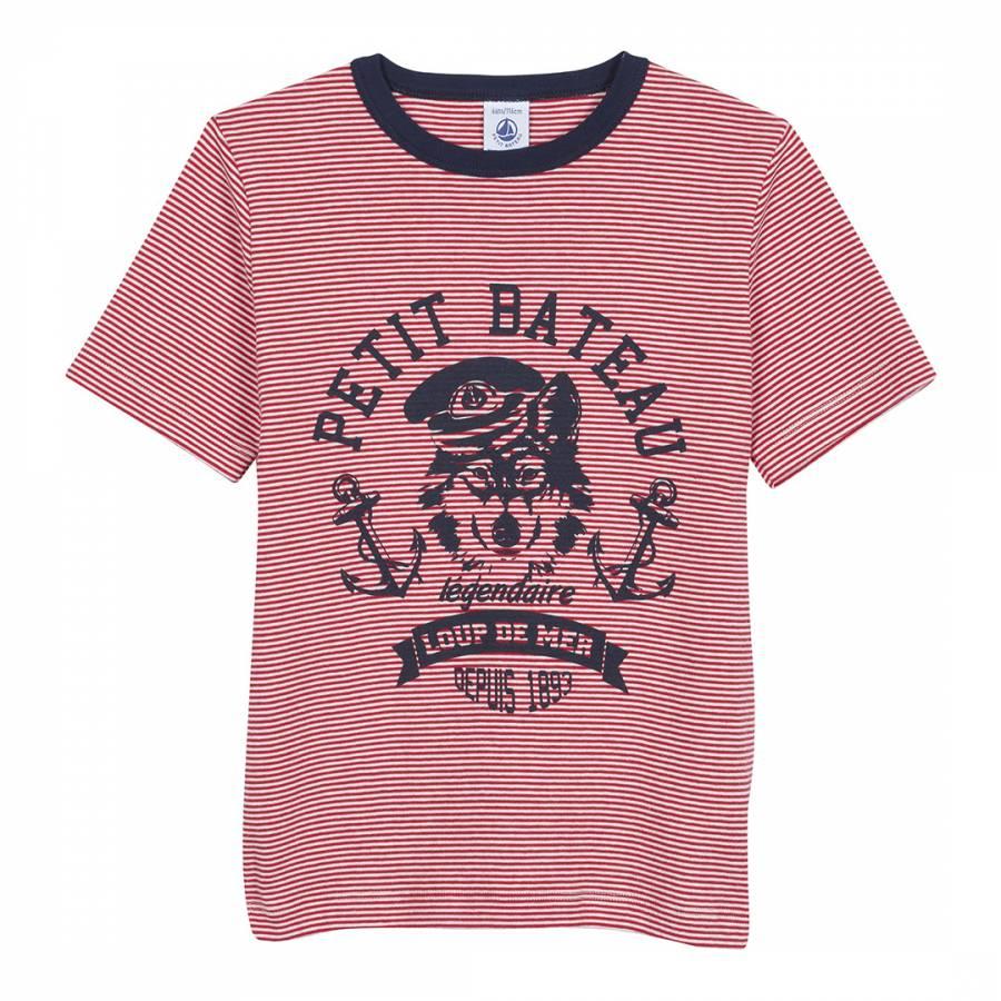 462bc0254b7 Red/Navy Milleraies Striped T-Shirt