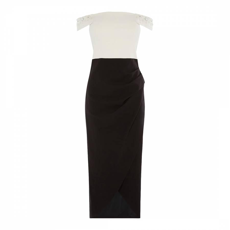 03c64e30524c Black/White Narrow Stripe Jersey Midi Dress - BrandAlley