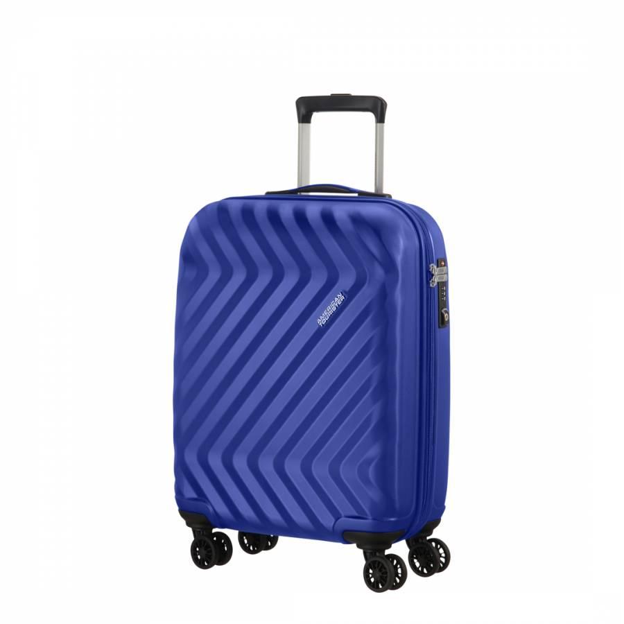 ced3fc16abd1 American Tourister Blue Ziggzagg Spinner 4 Wheeled Hardside Suitcase 55cm