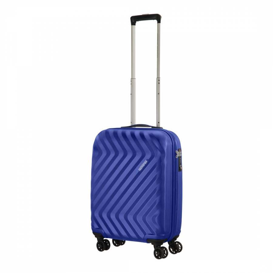 ddab7d014950 Blue Ziggzagg Spinner 4 Wheeled Hardside Suitcase 55cm - BrandAlley
