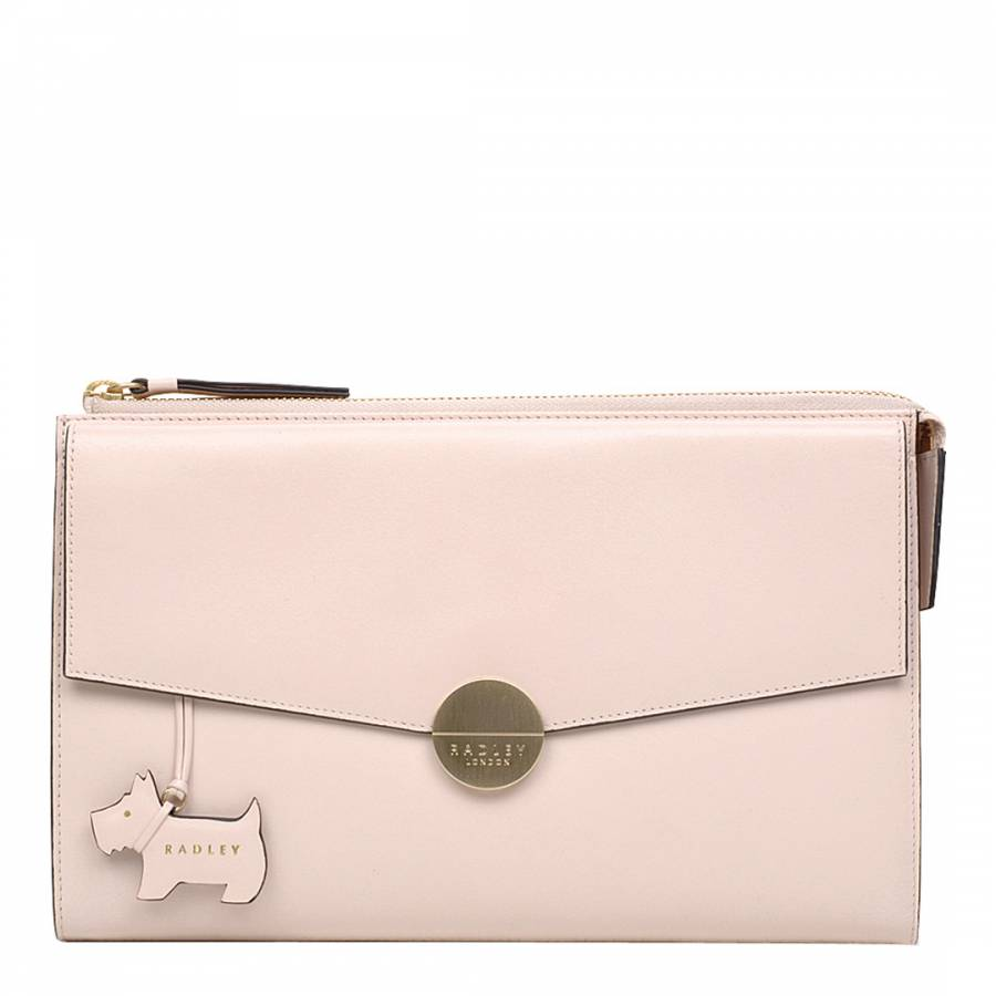 Pale Pink Broad Street Leather Clutch - BrandAlley 4a4ea781a8
