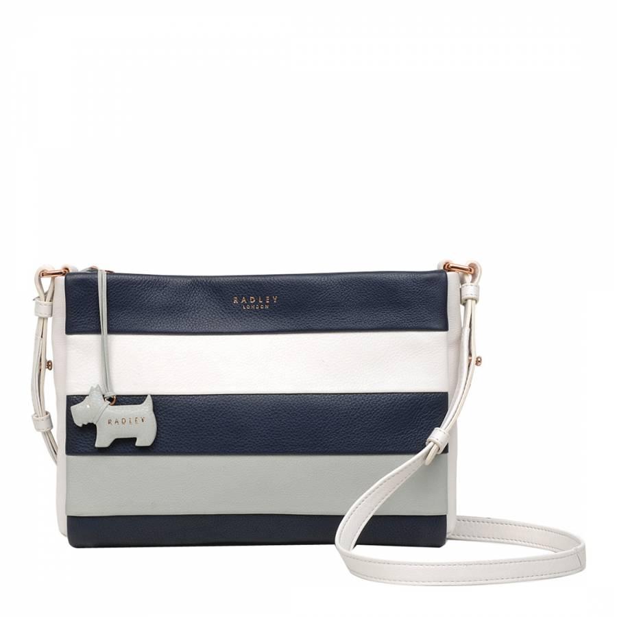 Chalk Syon Park Leather Medium Ziptop Crossbody Bag - BrandAlley 9dfc6a2272