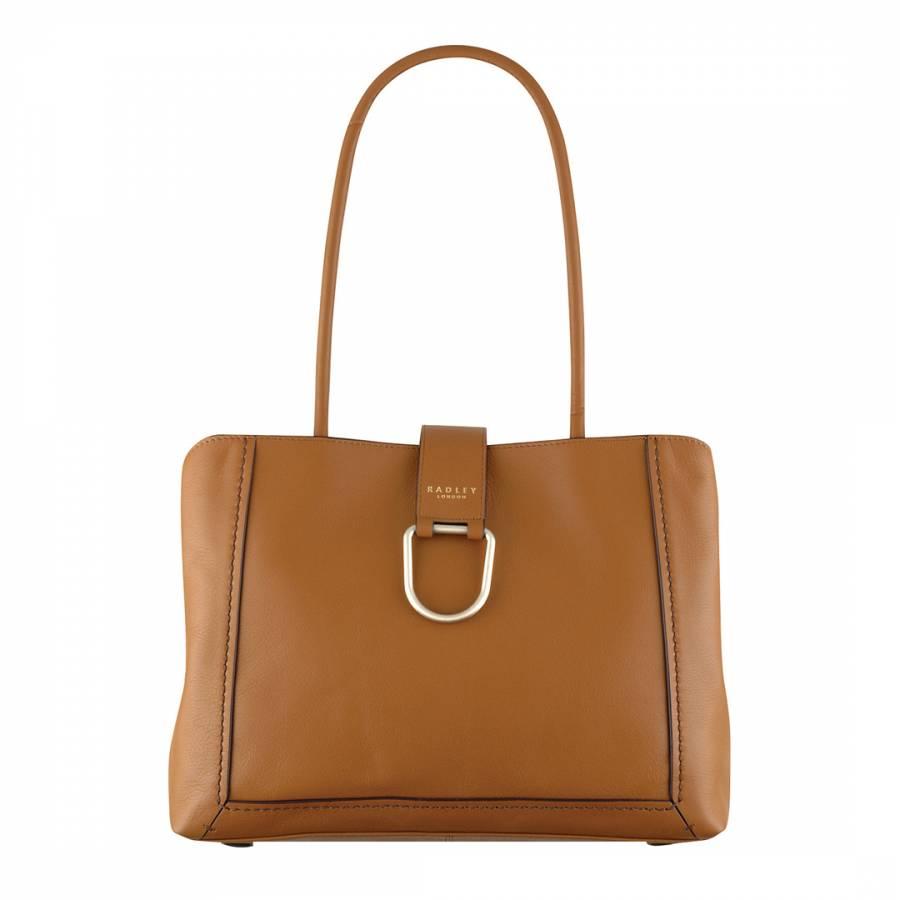 Tan Primrose Hill Leather Large Tote Bag - BrandAlley b49fdf7046