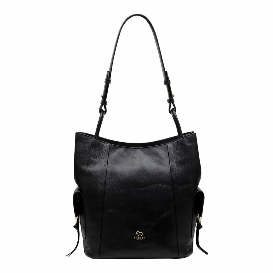 Black Lambeth Mews Leather Large Hobo Bag - BrandAlley 3382aaec2dc41