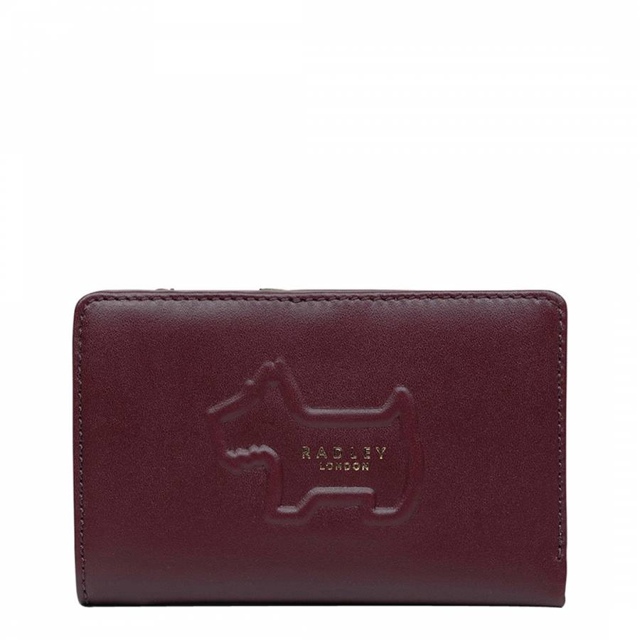 Burgundy Radley Shadow Medium Zip Top Purse - BrandAlley 44cf20dce2
