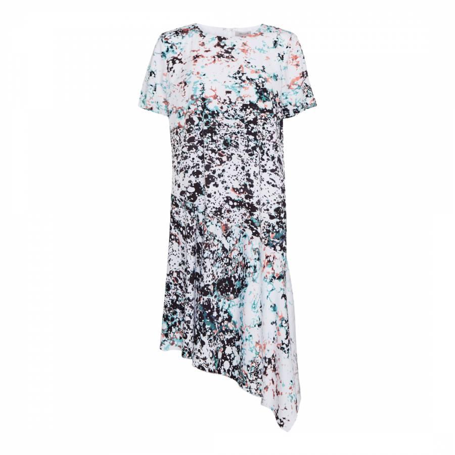 c78a04428dff Spearmint Black Miquita Marble Asymetrical Shift Dress - BrandAlley