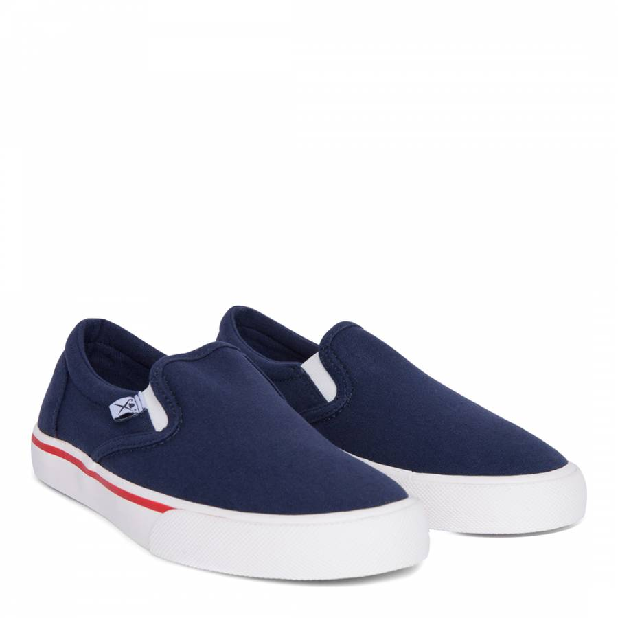137791e08 Zoom · Hackett London Boy s Navy Slip On Bamba Shoes