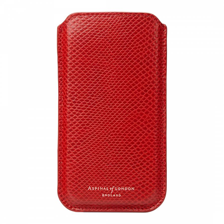 huge discount 29c5e 1eb16 Berry Lizard Leather Print iPhone 6 & 7 Sleeve - BrandAlley
