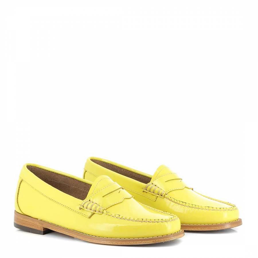 0eea7195777 Women s Lemon Yellow Patent Leather Penny Wheel Weejun Loafer - BrandAlley