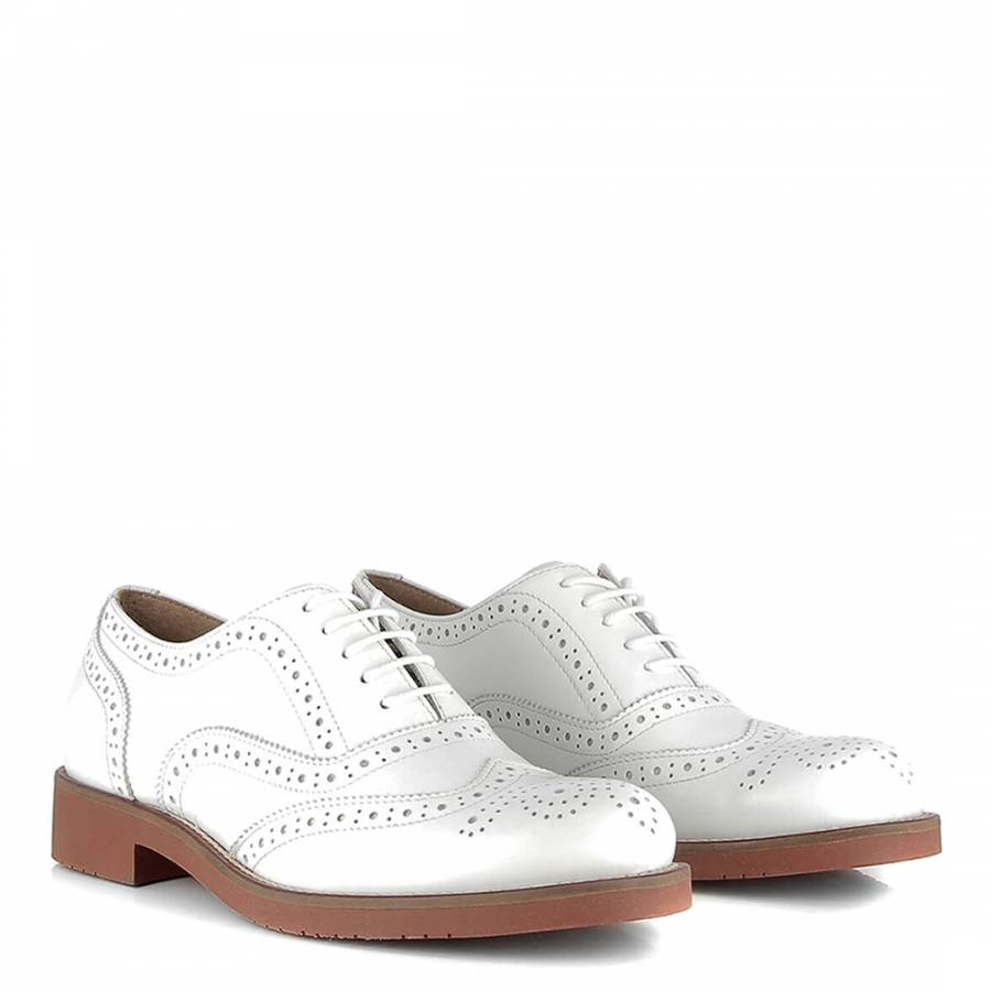 18cdb125b2d9 Women s White Leather Albany Oxford Brogue - BrandAlley