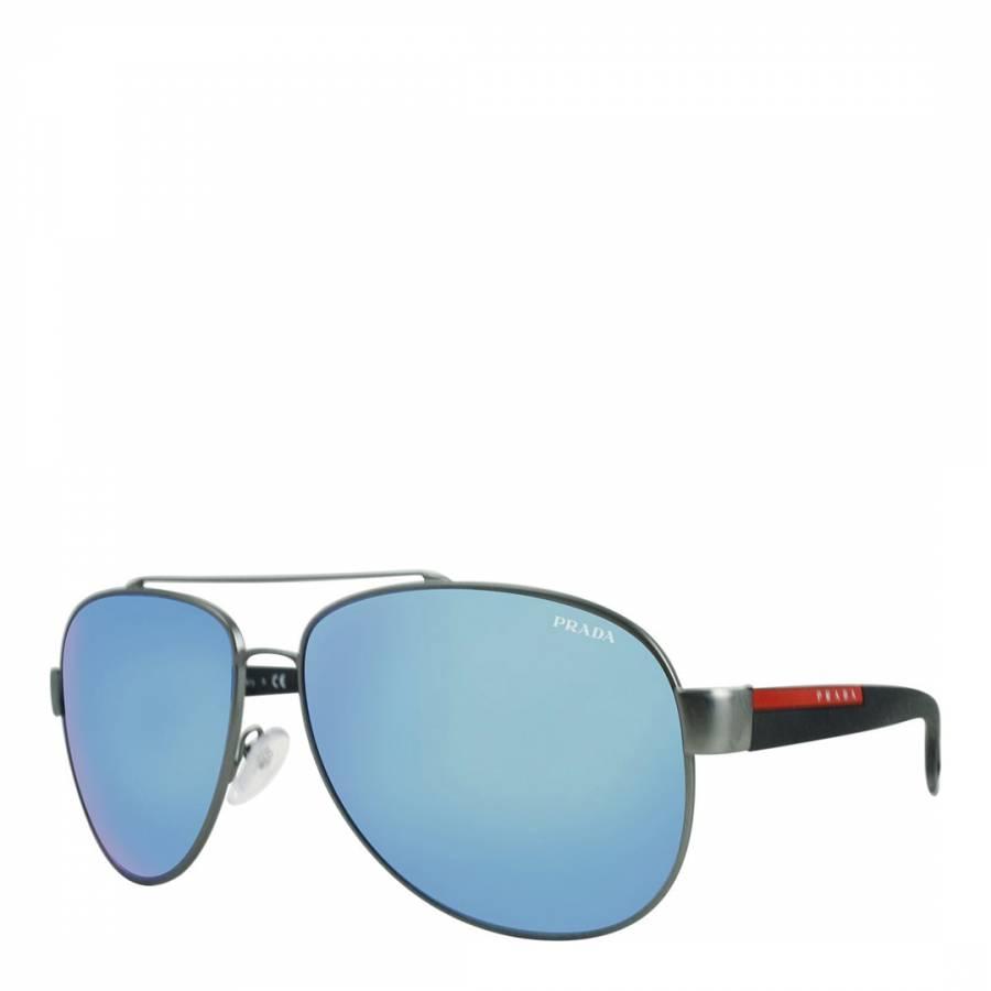 93372349e12e3 Men s Silver Rubber Sunglasses 59mm - BrandAlley