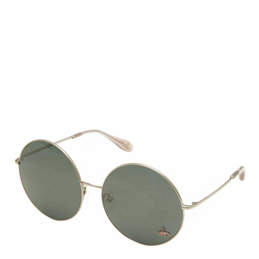 4542eb015f Vivienne Westwood Women s Gold Green Round Sunglasses. prev. next. Zoom