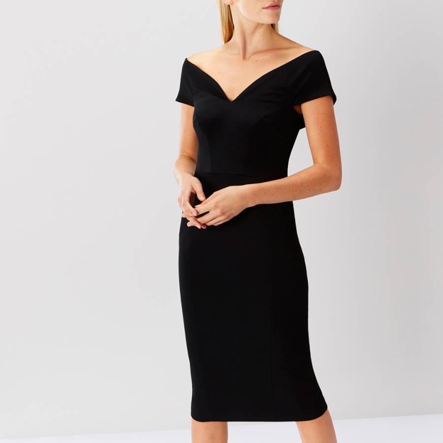 9355470b6c27 Black Jessa Bardot Shift Dress - BrandAlley