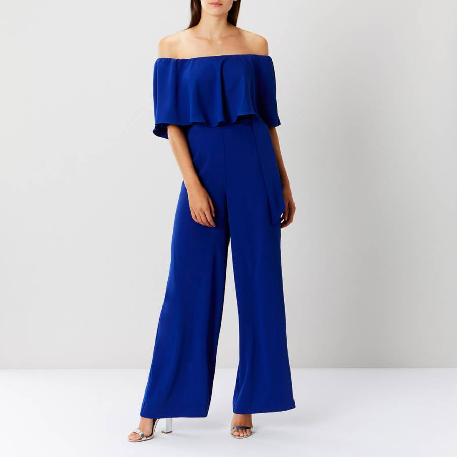 differently retail prices huge range of Cobalt Blue Naima Bardot Jumpsuit - BrandAlley