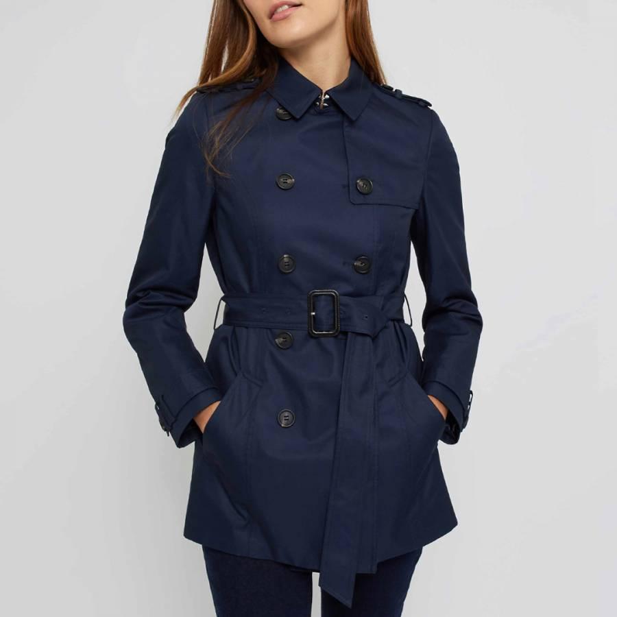 hot-seeling original on sale online new product Navy Short Trench Coat - BrandAlley