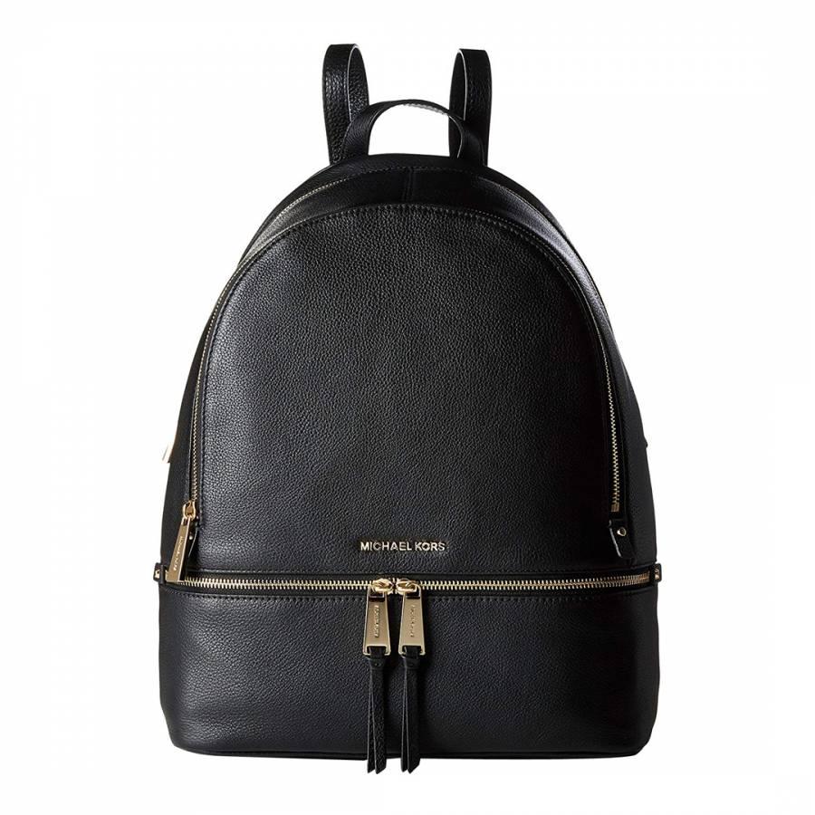 b612e918875e Michael Kors Black Rhea Large Michael Kors Backpack. prev. next. Zoom
